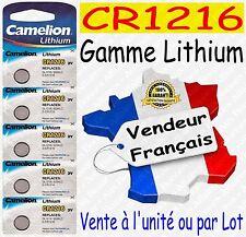 Piles boutons au choix : CR1216 ou CR2032 CR2025 CR2016 CR2430 CR2450 Lithium 3V