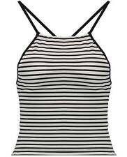 Women's Regular Striped Cotton Blend Tank, Cami Tops & Blouses