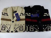 Pendleton Heavy Lambs Wool Shawl Collar Westerly Cardigan Sweater Vest NWT $199