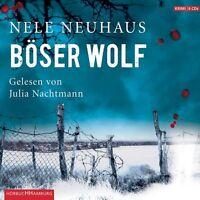 JULIA NACHTMANN - NELE NEUHAUS: BÖSER WOLF 6 CD HÖRBUCH KRIMI THRILLER NEU