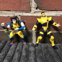 Vintage Marvel X-men Cyclops Wolverine 1996 Action Figures