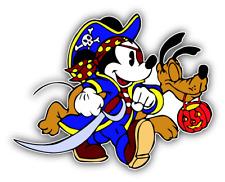 Mickey Mouse Pirate Cartoon Car Bumper Sticker Decal 5'' x 4''