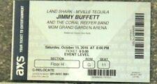 Jimmy Buffett Original Concert Used Ticket, Mgm Vegas Oct 15 2016