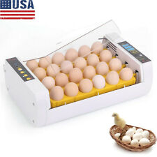 110V Intelligent Egg Incubator 24-Eggs Poultry Hatcher for Hatching Chicken Bird