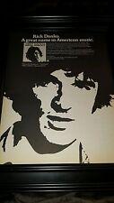 Rick Danko Arista Records Rare Original Promo Poster Ad Framed!
