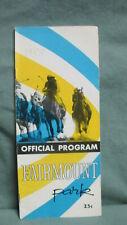 Fairmount Park 1958 Horse Racing Program