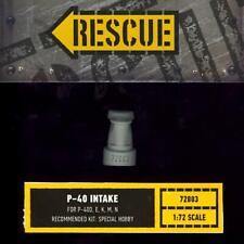 Rescue Models 1/72 CURTISS P-40 WARHAWK INTAKE Resin Set