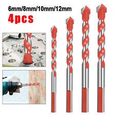 4pcs Multifunctional Drill Bits Ceramic Glass Punching Hole Working Tool Sets