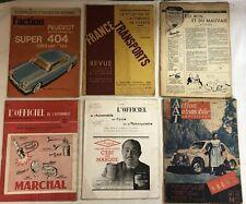 6 Revues automobile anciennes