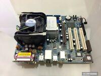 Asrock P4I65G I865G MATX Sockel S478 Mainboard + Intel Celeron 2Ghz CPU + Lüfter