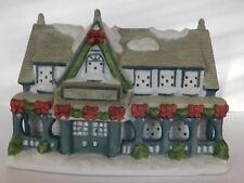 Partylite Christmas Village Town Candle Shop Ceramic Tea Light Votive Holder