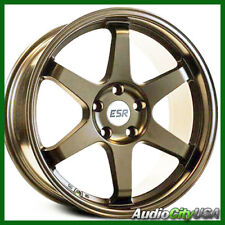 18x9.5 ESR SR07 WHEEL 5-114 et+22 Matte Bronze FIT ACCORD CIVIC 4pc