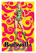 1960's Sci-Fi  * Barbarella *  Jane Fonda Promoional  Movie   Poster 1968