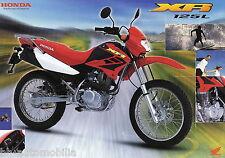 Prospekt Honda XR 125 L 9/02 D GB F I brochure Broschüre Motorrad Japan 2002