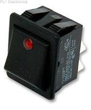 ARCOLECTRIC SWITCHES - C1553PTNAB - ROCKER SWITCH, DPST, ILLUM RED