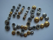 Omega crowns NOS different size goldfill & SS 50 pieces 1/2 men's and 1/2 lady