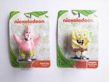 Set of 2 Nickelodeon Spongebob Squarepants & Patrick Star Mini Figures Figurines