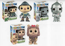 "Funko DAMAGED BOX WIZARD OF OZ 3PC 3.75"" POP SET RETIRED TIN MAN  SCARECROW LION"