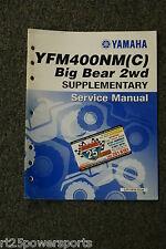 Yamaha YFM400NM YFM400 Big Bear 2wd Supplementary Service Manual LIT-11616-13-34