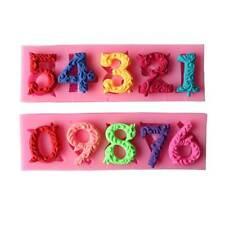 Números 0 - 9 letras de Silicona Molde Hornear Pastel Cupcake Topper Glaseado Decoración