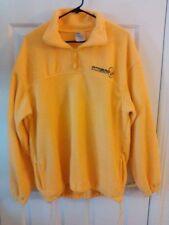 Pittsburgh Steelers Fleece Jacket Size M Pull Over Yellow XNT Polyester Zipper