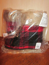 "Set of 2 Pottery Barn Christmas Buffalo Plaid Christmas Ice Skate "" Ornaments """