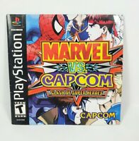 Marvel VS Capcom Clash of Super Heroes Sony PS1 MANUAL ONLY Authentic