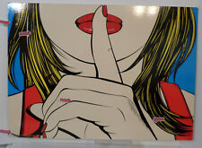 Sssshhh Woman Modern Art Vintage Azzopardi Solmyra  Wall Art Decor 1999