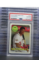 2018 Topps Heritage Juan Soto Rookie Card RC #502 PSA 10 GEM MINT Nationals M87