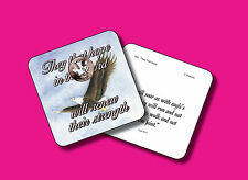 """""""They That Hope In The Lord"""" Poem / 1 Dove Coin / Carded Penny/POCO sku 820"""