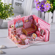 78pcs Jigsaw 3D Puzzles Sweet Bedroom Assembly Model for Girls Gifts DIY Crafts