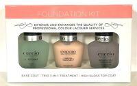 Cuccio Nail Solution - Foundation Kit - Base/Top Coat/ Trio Treatment