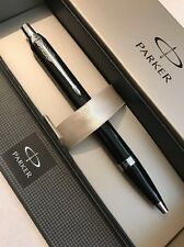 NEW 2016 PARKER IM BLACK LACQUER CT BALLPOINT PEN-FRANCE-BLACK INK-GIFT BOX