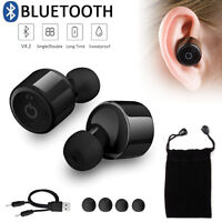 Mini True Wireless Bluetooth 4.0 Twins Stereo In-Ear Headset Earphone Earbuds UK