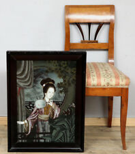Hinterglas Peinture Antique Japon Dame old Japanese behind glass painting 芸者