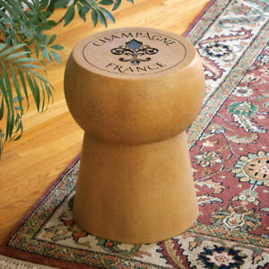 Elegant Champagne Cork Home Side Planter Accent Table