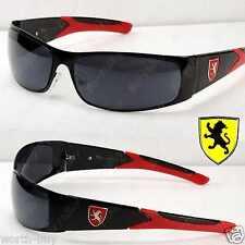 New Khan Eyewear Mens Rectangular Sport Sunglasses Designer Shades Red Retro 727
