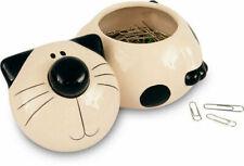 2kewt Black & White Ceramic Cat Storage Jar Bowl Multi Purpose Container Dish