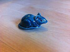 POOLE BLUE GLAZED CROUCHING MOUSE ANIMAL FIGURE - BARBARA LINLEY ADAMS -