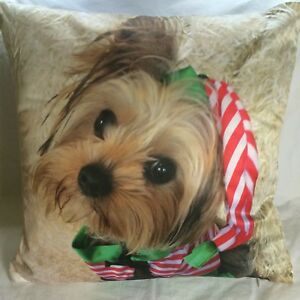 YORKIE CHRISTMAS SCATTER CUSHION ( 18 X 18 INCHES )