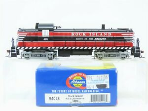 """HO Scale Athearn 94028 RI Rock Island """"Rockets Route"""" RS3 Diesel 485 - DCC Ready"""