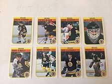 1977-78 O-Pee-Chee Hockey Lot Of 8 Boston Bruins EX Condition Cashman Peeters