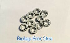 NEW Lego Technic Light GRAY Technic BUSH 1/2 Toothed Type 2 - Lot of Ten