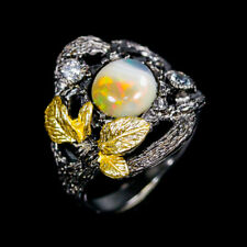 One of a kind  Natural Opal 925 Sterling Silver Ring Size 7/R94450