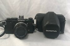 OLYMPUS OM-1 35MM SLR FILM CAMERA W/ 50MM F1.8 LENS & CASE