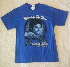Michael Jackson Remember The Time Blue Shirt- Med- New