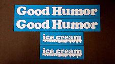 GOOD HUMOR Ice Cream Truck Top Panel Decals / Stickers