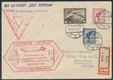 Zeppelin Chicagofahrt 1933 Anschlussflug Berlin Rundfahrt 4 RM Chicago (S15392)