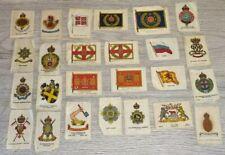 More details for cigarette silk bundle 25 silks bdv heraldry regiments flags