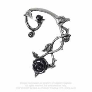Alchemy Gothic Wild Black Rose Ear Wrap - Gothic,Goth
